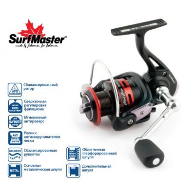 Катушка Surf Master Black Bass FB 1500A, 5п.+1р.п