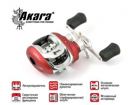 Катушка мультипликаторная Akara Breeze BRE 200L, 5п+1р.п