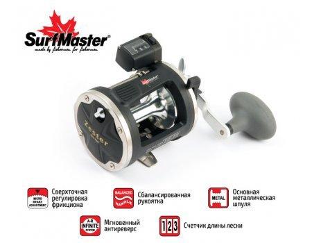 Катушка мультипликаторная  Surf Master Zester ZES 500, 2п.+1р.п