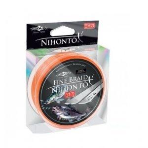 Плетенка Mikado Nihonto Fine Braid 100м, оранжевая