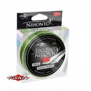 Плетенка Mikado Nihonto Fine Braid 100м, зеленая