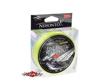 Плетенка Mikado Nihonto Fine Braid 100м, желтая