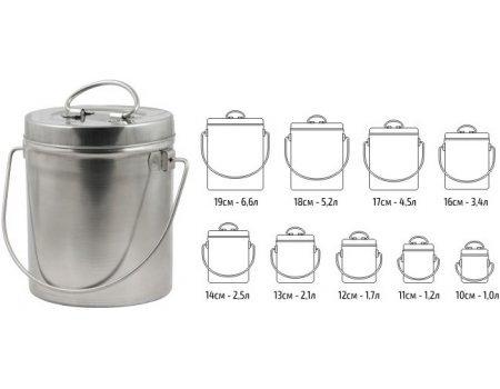 Набор котелков Comfortika пищевая сталь (9 шт)