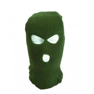 Шапка-маска вязаная, хаки