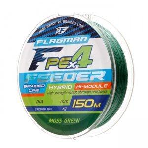 Плетенка Flagman PE Hybrid Feeder Moss Green F4-150м, зеленая
