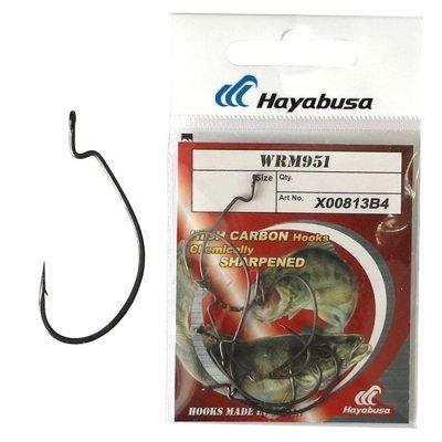 Крючки офсетные Hayabusa WRM 951 №4 BN