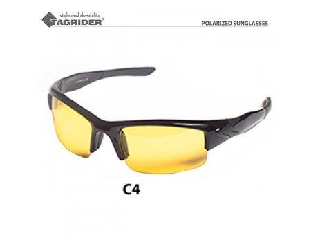 Очки поляризационные Tagrider GLTR 004-C4 Yellow в чехле