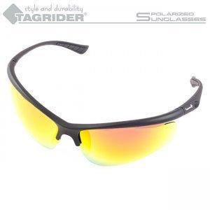 Очки поляризационные Tagrider N13-45 Gold Red Mirror в чехле