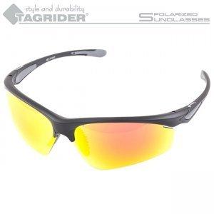 Очки поляризационные Tagrider N15-45 Gold Red Mirror в чехле