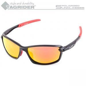 Очки поляризационные Tagrider N20-45 Gold Red Mirror в чехле