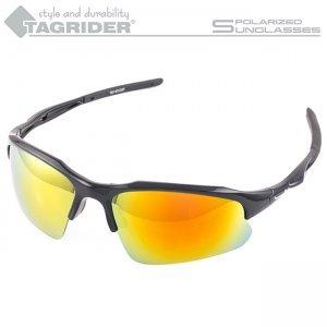 Очки поляризационные Tagrider N22-15 Gold Red Mirror в чехле