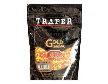 Компонент для прикормки Traper Gold Pieczywo Fluo mix (Печиво флуо микс), 400г