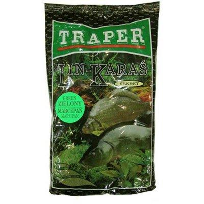 Прикормка Traper Sekret Lin–Karaś zielony marcepan (линь-карась, зеленый марципан), 1кг
