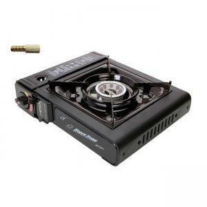 Плита газовая портативная Happy Home BDZ-155-A, с переходником