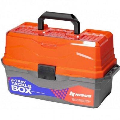 Ящик для снастей трехполочный Nisus Tackle Box, оранжевый