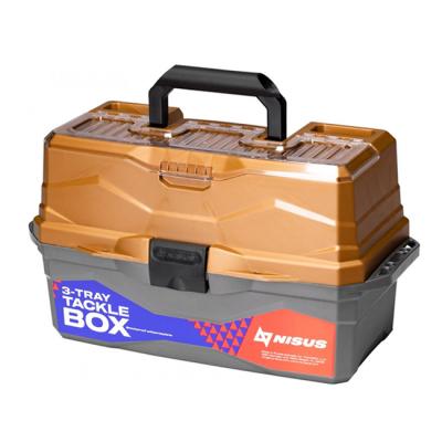 Ящик для снастей трехполочный Nisus Tackle Box, золотой