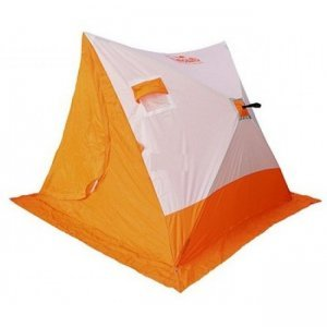 Палатка зимняя Следопыт 2-Скатная бело-оранжевая, 1.85x1.8x1.51м