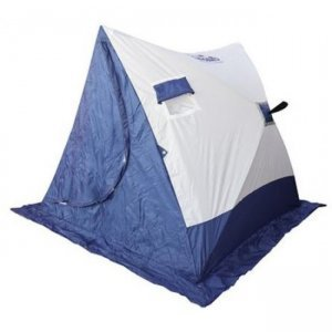 Палатка зимняя Следопыт 2-Скатная бело-синяя, 1.85x1.8x1.51м