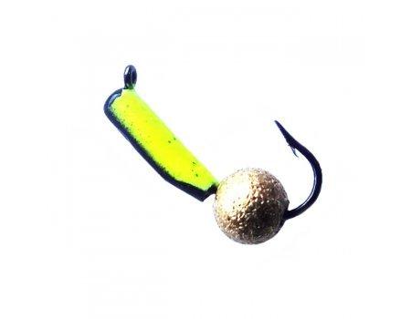 """Мормышка вольфрамовая """"Столбик фосфор"""" с латунным шариком и ушком 0.6г, 60BN"""