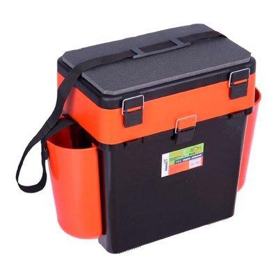 Ящик зимний рыболовный Helios FishBox (оранжевый), 19л