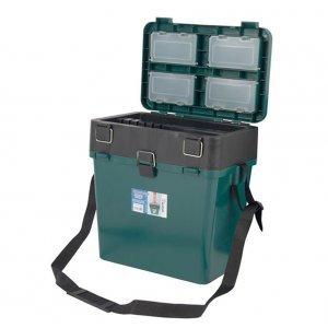 Ящик зимний рыболовный Тонар Helios (зеленый), 19л