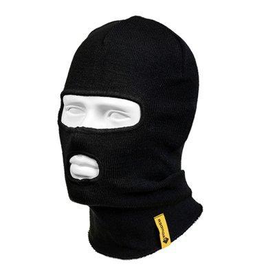 Шапка-маска Tagrider Expedition 3015 2 отверстия вязаная, черная