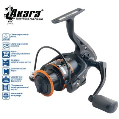 Катушка AKARA Black Hunter BHF2000, 9п.+1р.п