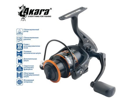 Катушка Akara Black Hunter BHF3000, 9п.+1р.п