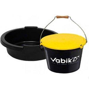 Ведро для прикормки Vabik 25л с тазом и крышкой