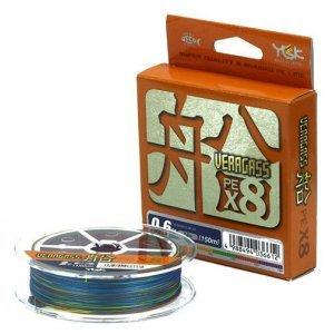 Плетенка YGK Veragass PE Fune X8-150м, мультицвет