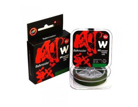 Плетенка Fishmaster W4 PE Moss Green X4-150м, зеленая