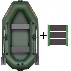 Лодка надувная ПВХ КОЛИБРИ К-240Т (слань-коврик)