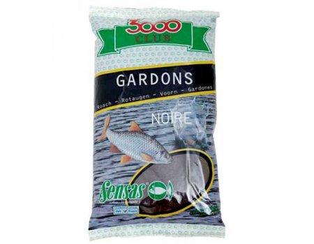 Прикормка Sensas 3000 Club Gardons Noire (черная, плотва), 1кг