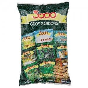 Прикормка Sensas 3000 Gros Gardons (коричневая, плотва), 0.8кг