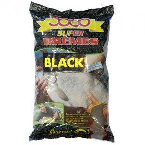 Прикормка Sensas 3000 Super Bremes Black (черная, лещ), 1кг