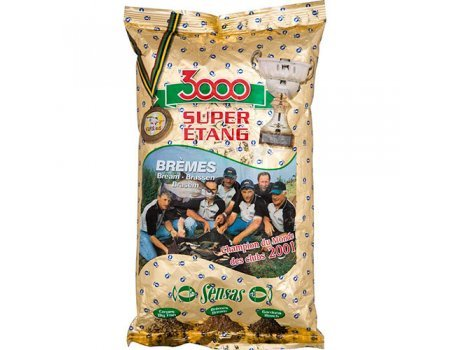 Прикормка Sensas 3000 Super Etang Bremes (кремовая, лещ), 1кг