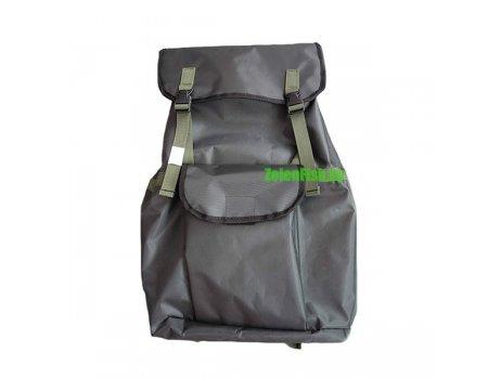 Рюкзак для рыбалки зеленый ПВХ-60, 60л