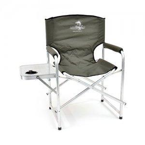Кресло складное Кедр со столиком с подстаканником, алюминий