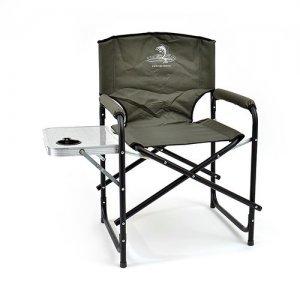 Кресло складное Кедр со столиком с подстаканником, сталь