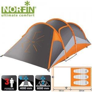Трехместная палатка Norfin Helin Alu