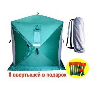 Палатка зимняя Куб 3+, 1.8х1.8х2м