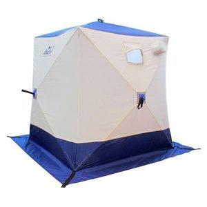 Палатка зимняя Следопыт КУБ 2 бело-синяя, 1.5x1.5x1.7м