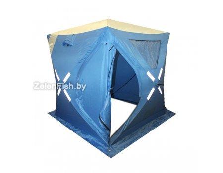 Палатка зимняя Woodland Ice Fish 2 синяя, 1.65х1.65х1.85м
