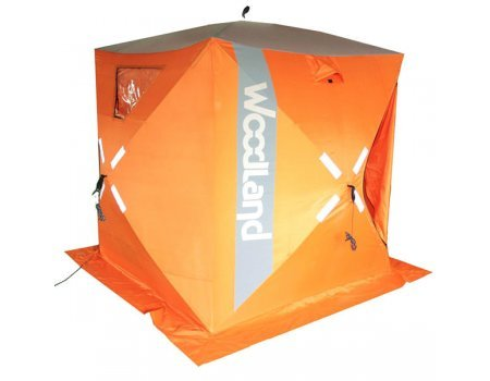 Палатка зимняя Woodland Ice Fish 4 оранжевая, 1.8х1.8х2.1м