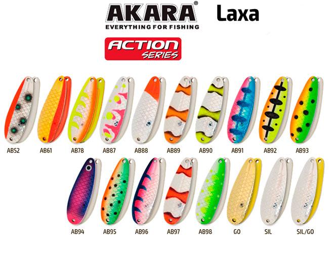 Блесна Akara Action Series Laxa, цвет: AB88, 21гр