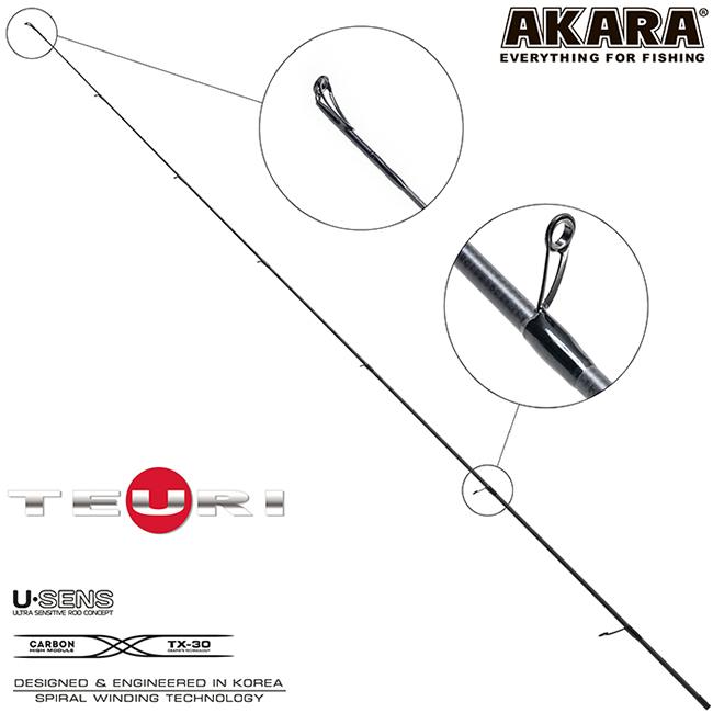 Хлыст для спиннинга Akara Teuri S762M 2.3м, 8-24.5гр