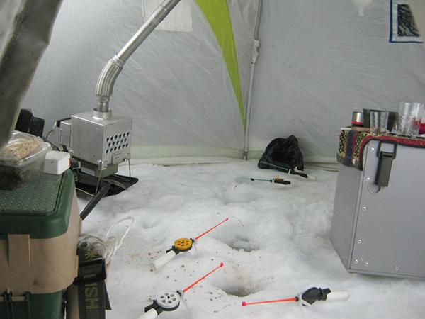 обогрев зимней палатки