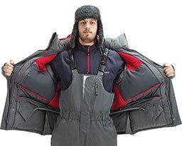 Стягивающий пояс на куртке