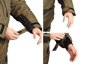 Специальные манжеты на рукавах