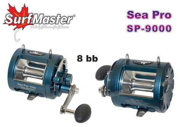 Катушка мультипликаторная Surf Master Sea Pro 9000, 8п